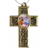 Cross Holy Family Antique Gold